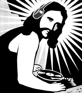 Spray DJ Jesus on your wall and it will miraculously stay there forever