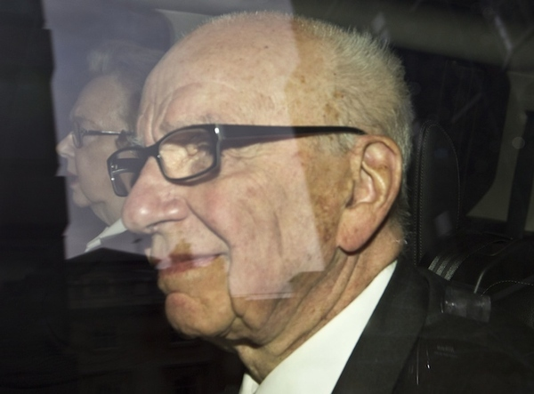 News Corporation chairman Rupert Murdoch arrives at his residence in central London, Thursday, Ju...