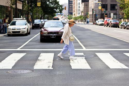 Help An Old Woman Cross The Street