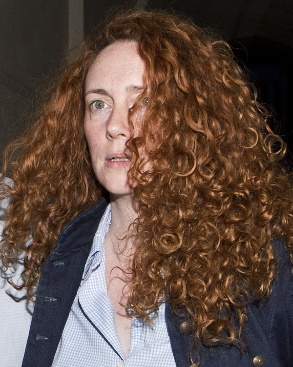 Former Chief executive of News International, Rebekah Brooks leaves a hotel in central London. Lo...