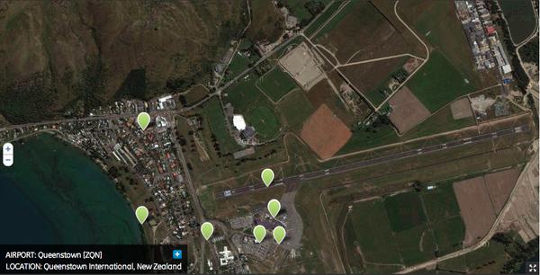 ZQN- aeropuerto de Queenstown, Frankton, NZ