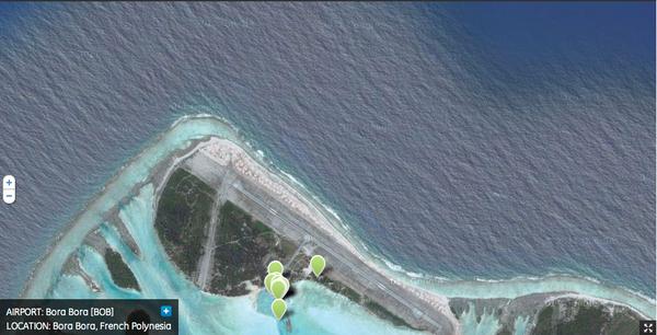 Bob- aeropuerto de Bora Bora