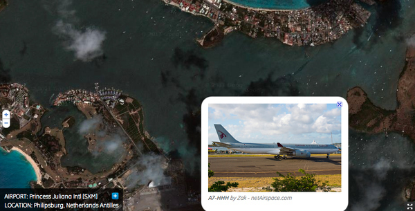 El aeropuerto internacional Princess Juliana SXM-