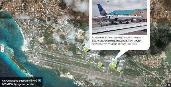 El aeropuerto internacional de AUA- Aruba