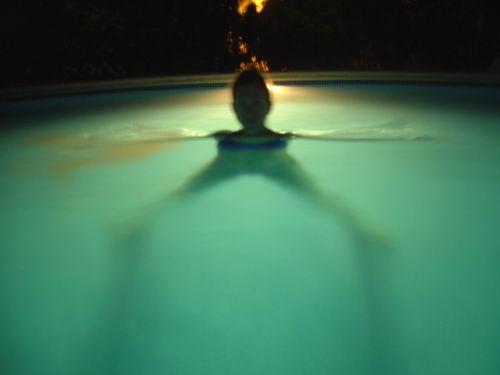 -Swim In A Pool At Night