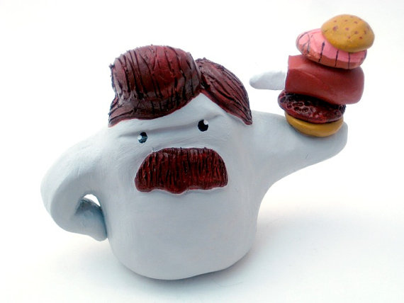 "2) ""Ron Swanster"" Monster Ceramic / $75"