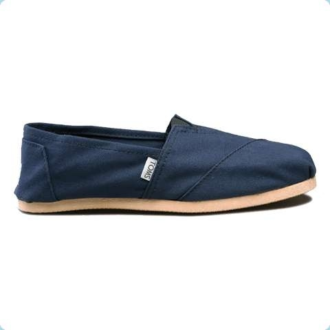 And here's a picture of a TOMS shoe.