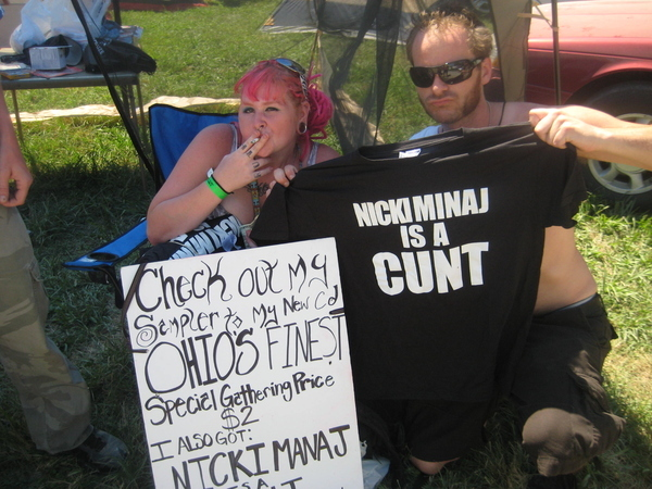 "The Gathering is the only place where it's perfectly acceptable to wear a shirt with the word ""Cunt"" on it."