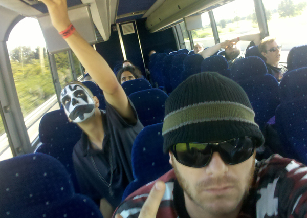 You will not sleep on a bus full of Juggalos.