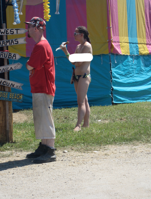 Never eat a corn dog topless.