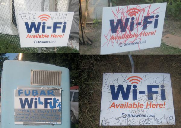 Juggalos do not like Wi-Fi.