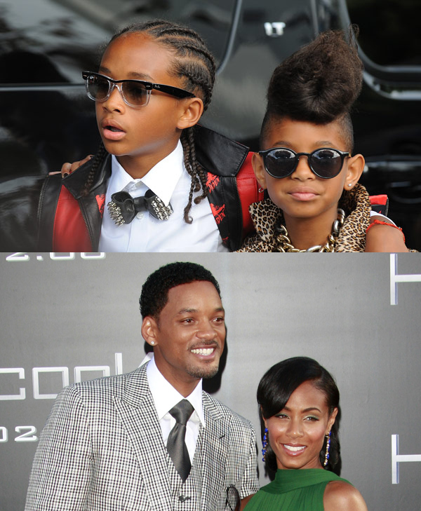 Jaden and Willow Smith / Will and Jada Pinkett Smith
