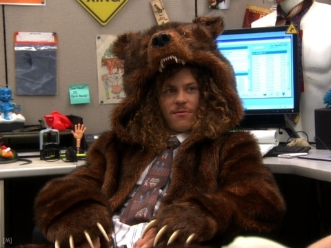 Workaholics With A Bear Costume