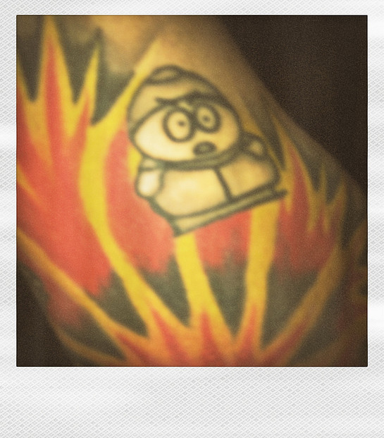 Cartman In Flames