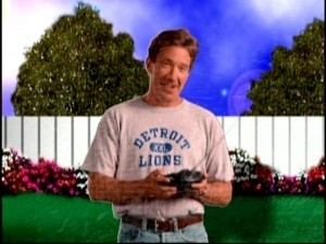 During Home Improvement 's run, colleges often sent him shirts and sweatshirts to wear on the air, which he did.