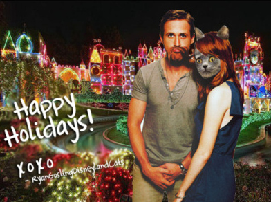 Ryan Gosling Disneyland Cats