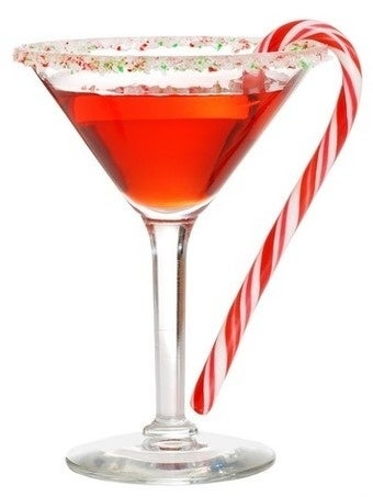 Ingredients:3/4 oz SKYY Berry vodka3/4 oz Peppermint Schnapps3/4 oz white Crème de Cacao1/4 oz grenadine1 candy cane half and halfsoda waterInstructions:1. Pour the vodka, Peppermint Schnapps, white Creme de Cacao and grenadine into a cocktail shaker with ice.2. Shake well.3. Pour into a cocktail glass rimmed with crushed peppermint candy.4. Fill with half and half.5. Top with a splash of soda water.6. Garnish with a candy cane and serve.