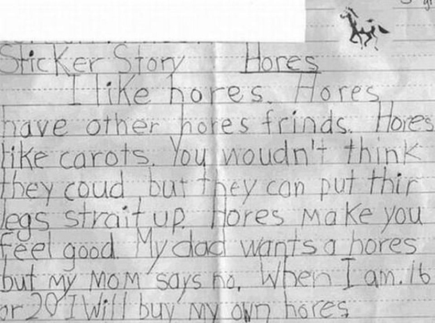 Essay about my dad and horses?