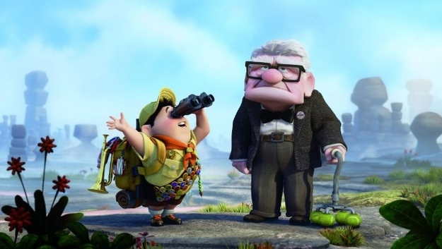 "The old man and the little boy from ""Up"":"