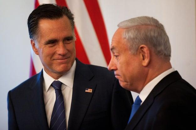 Romney with Israeli Prime Minister Benjamin Netanyahu this summer in Jerusalem.