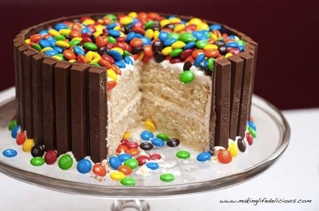 Really this is just the framework for any flavor of cake and any sprinkle-able candy topping. Get the recipe.