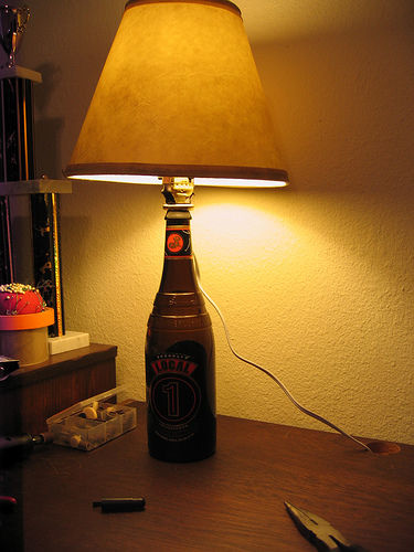 Make a lamp: