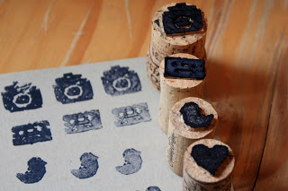 Turn corks into stamps: