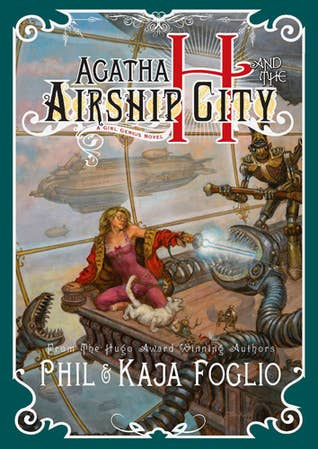 Agatha H and the Airship City by Phil Foglio, Kaja Foglio From Phil and Kaja Foglio, creators of the Hugo, Eagle, and Eisner Award-nominated webcomic Girl Genius, comes Agatha H and the Airship City, a gaslamp fantasy filled to bursting with Adventure! Romance! and Mad Science! The Industrial Revolution has escalated into all-out warfare. It has been eighteen years since the Heterodyne Boys, benevolent adventurers and inventors, disappeared under mysterious circumstances. Today, Europe is ruled by the Sparks, dynasties of mad scientists ruling over—and terrorizing—the hapless population with their bizarre inventions and unchecked power, while the downtrodden dream of the Hetrodynes' return. Adventure! Romance! Mad Science!  Get it all here
