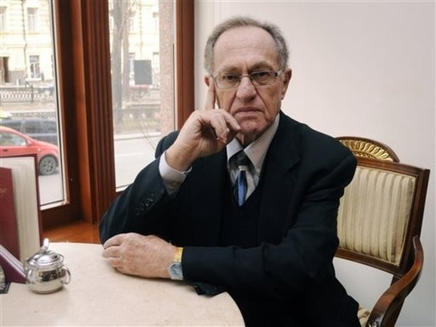 Dershowitz last year in Kiev, where he defended former Ukrainian president Leonid Kuchma, accused in the murder of an investigative journalist.