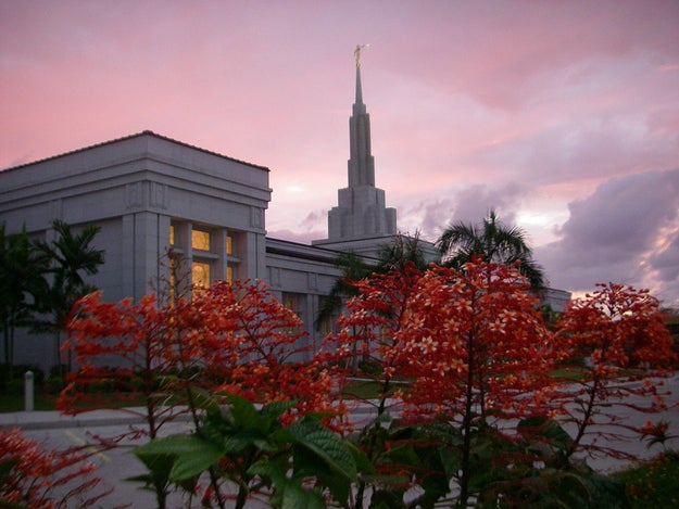 The Mormon temple in Apia, Samoa, which neighbors American Samoa.