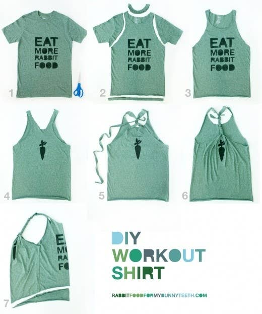 31 insanely easy and clever diy projects 2 turn a t shirt into a workout tank solutioingenieria Choice Image