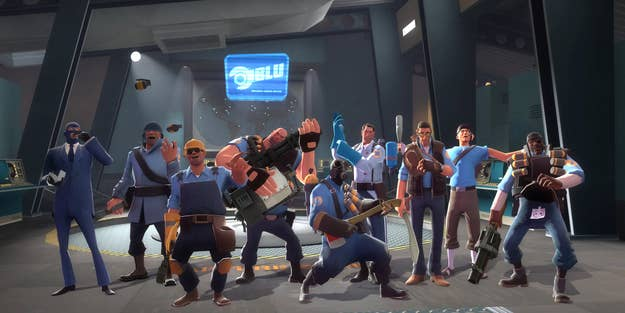 Team Fortress 2 features a marketplace for weapons, hats and other accessories.
