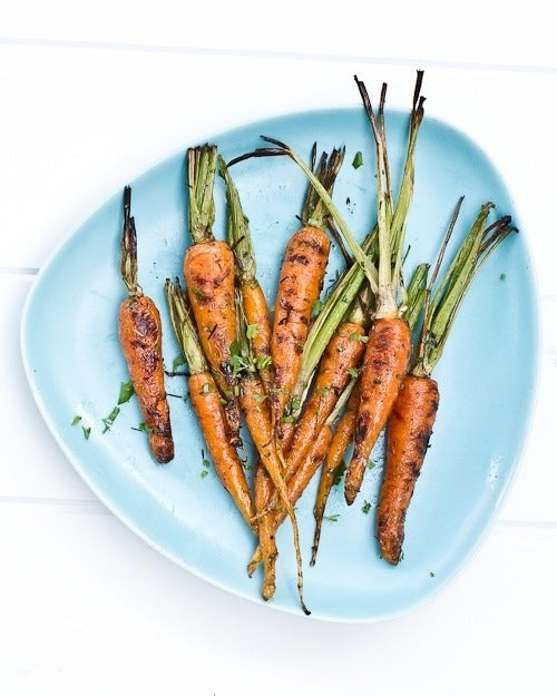 Carrots with lime and cilantro