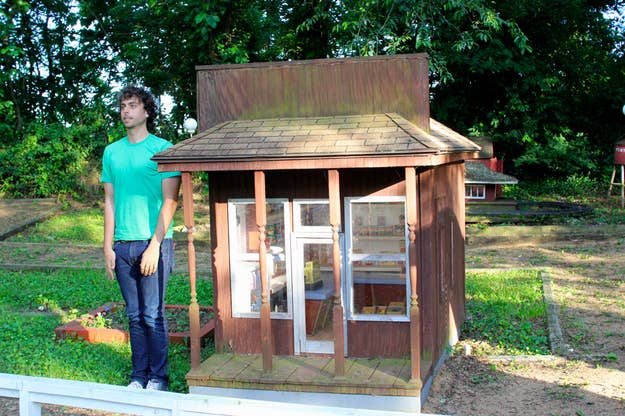 Tiny World is the work of one man, Ernest Helm, who began building small structures on his property in the '80s.