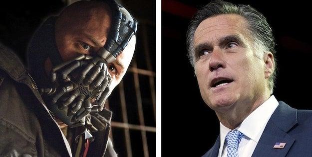 Bane, Batman Villain (L), Mitt Romney, Presidential Candidate (R)