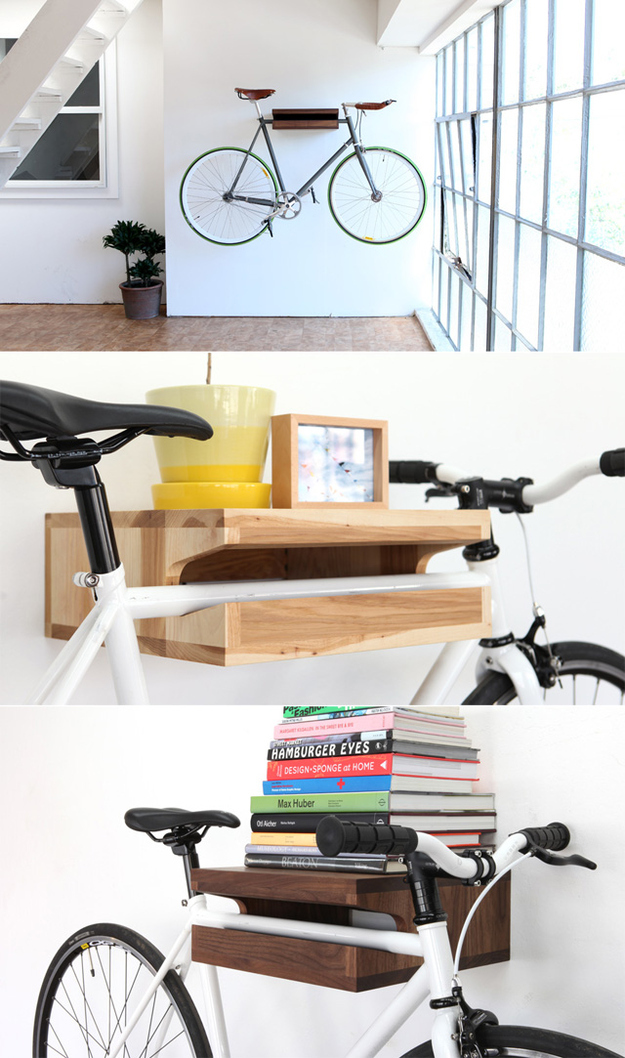 Bike Rack/Book Shelf. Comes In Hickory And Walnut. $299 From Knife And Saw.