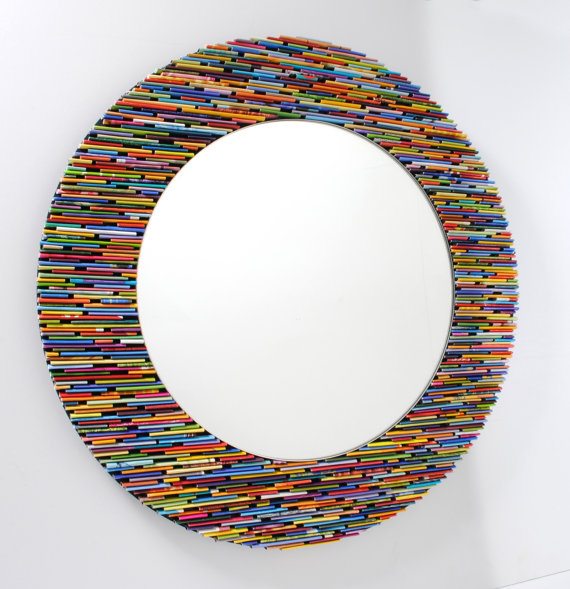 4. Recycled Magazine Mirror, $150