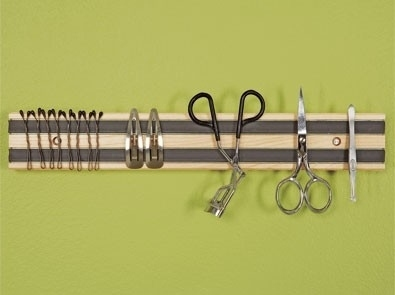 Use a Magnetic Rack to Store Hygiene Tools