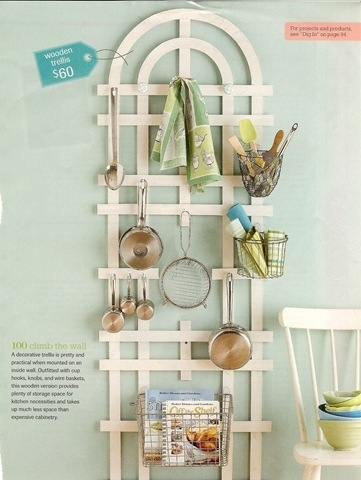 Utilize Wall Space to Hang Utensils