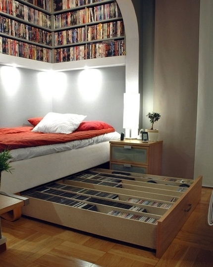 IKEA Hack Media Storage Bed