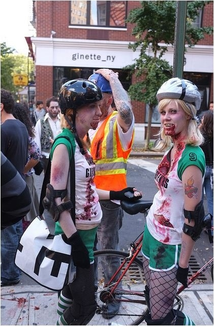 I bet they ride fixies' zombies