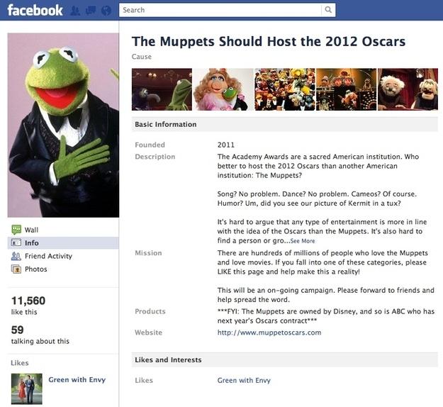 60 Best Muppet Fan Images On Pinterest: Muppet Fans Advocate Having Kermit And Friends Host The Oscars