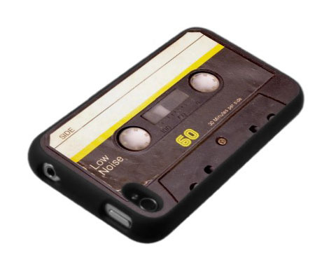 iPhone 4 / 4S Case: Chewed Up Cassette with Yellow Sticker
