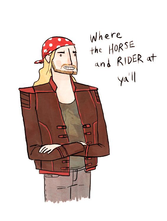 Eomer as a biker bro