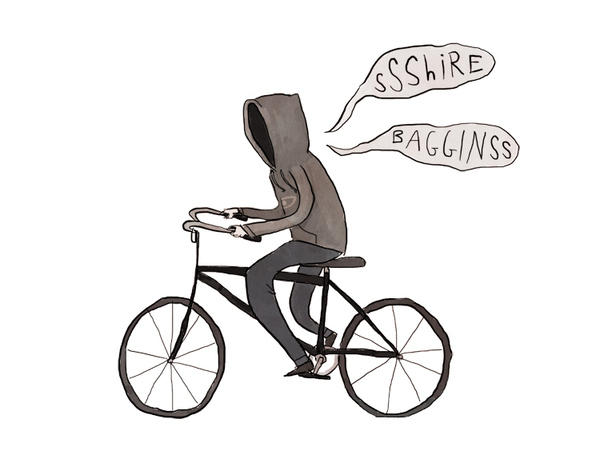 A Nazgul on his fixie!