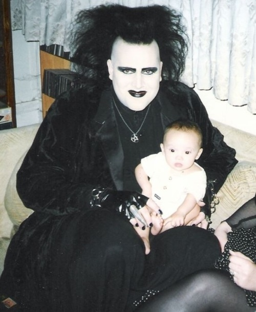 Goth with a Baby