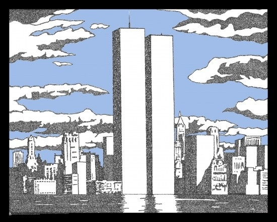 Artwork Created Using The Names Of Those Lost On 9/11.