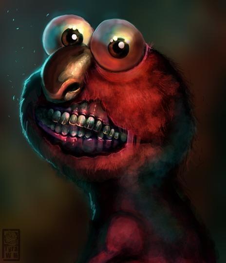 Scary Elmo by Tyra WhiteMeadows