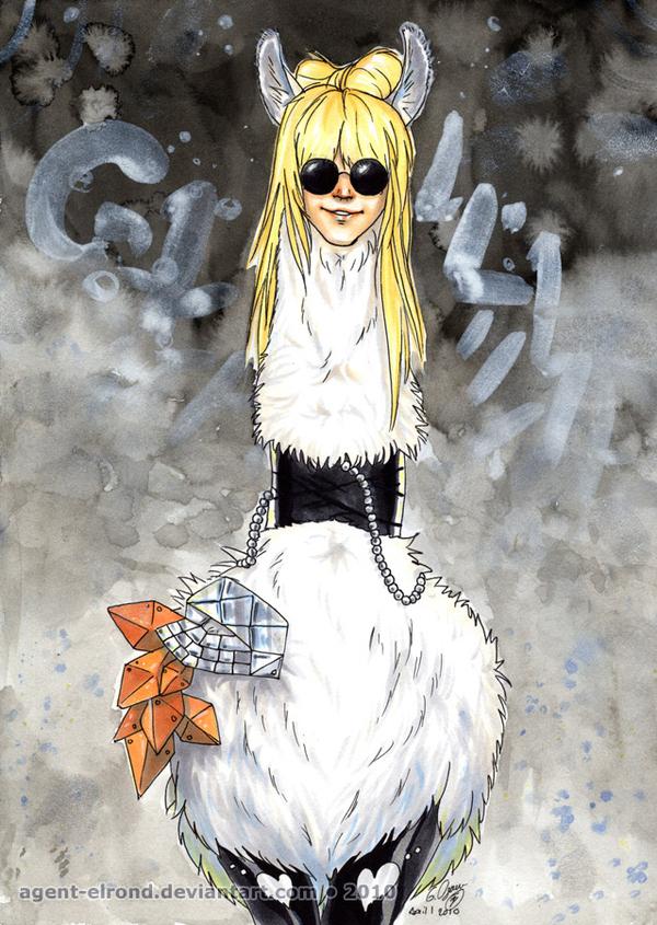 Llama Gaga by Agent-Elrond