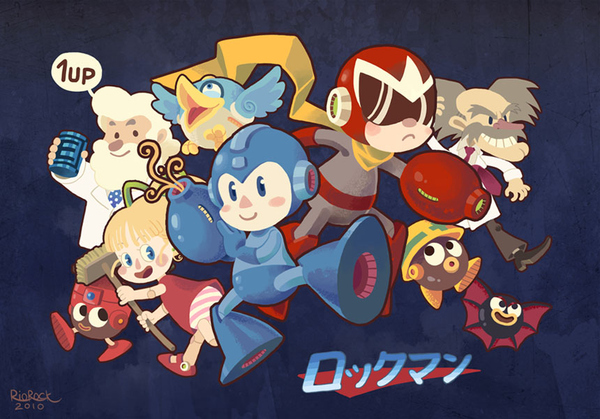 The Happiest Mega Man by Rio Rock